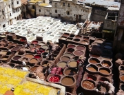 Sampling the sights and smells of the ancient tanning pits in Fès